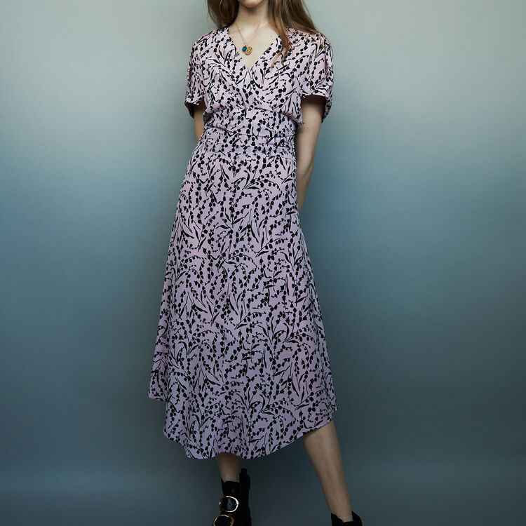 Long printed silk dress : staff private sale color PRINTED