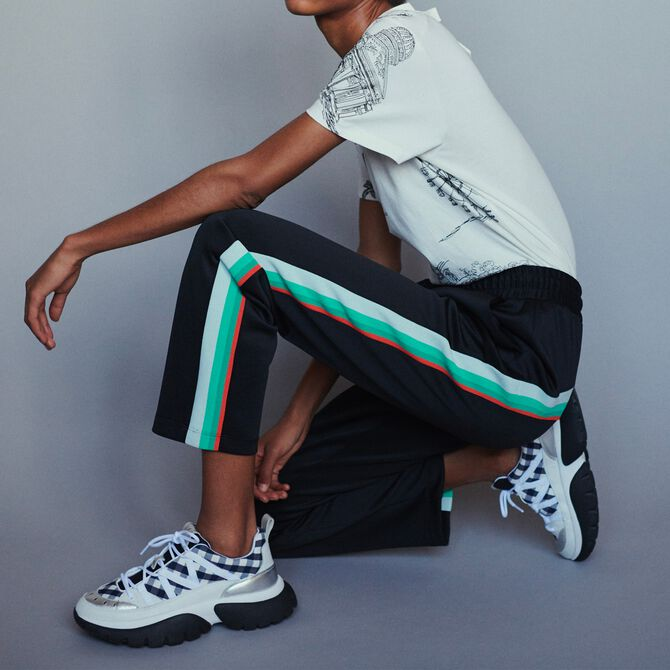 Sport pants with contrasting side bands - Trousers & Jeans - MAJE
