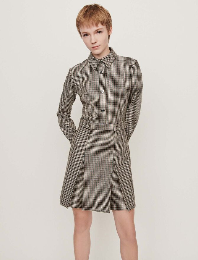 Plaid jacket-style coat - Dresses - MAJE