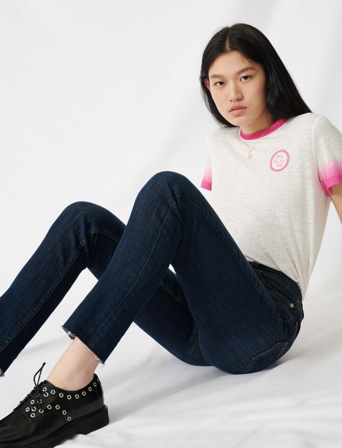 High-waisted slim-fit jeans -  - MAJE