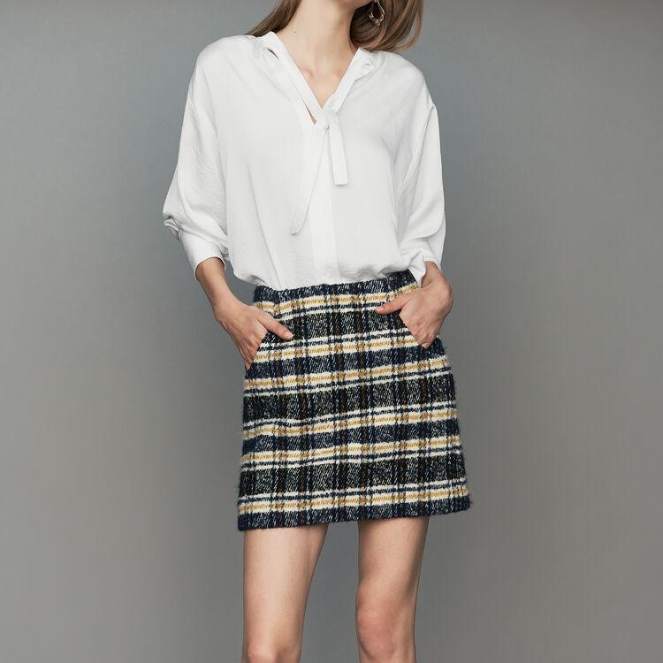 Short plaid skirt : Skirts & Shorts color CARREAUX