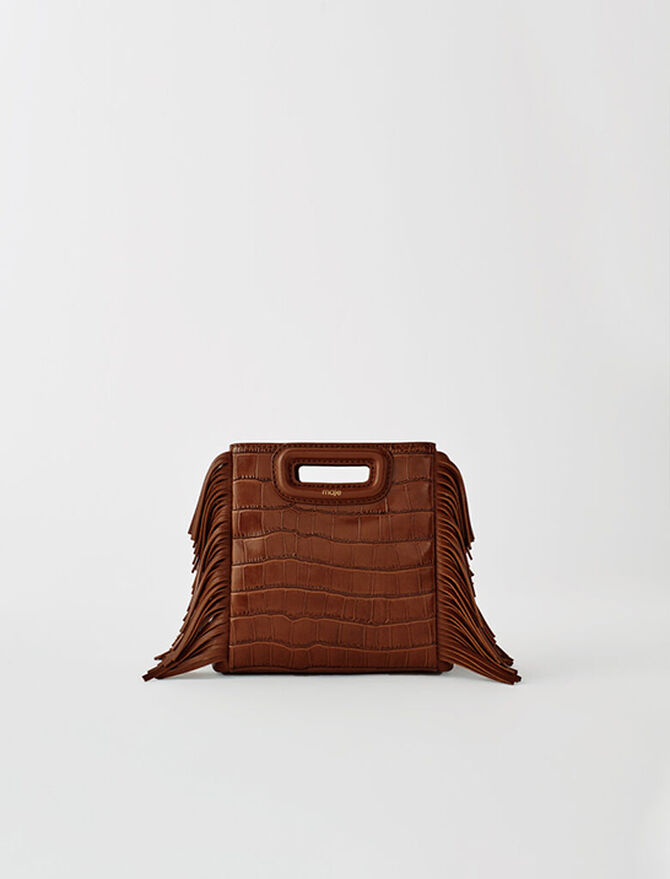 Crocodile-effect leather Mini M bag - M bags - MAJE