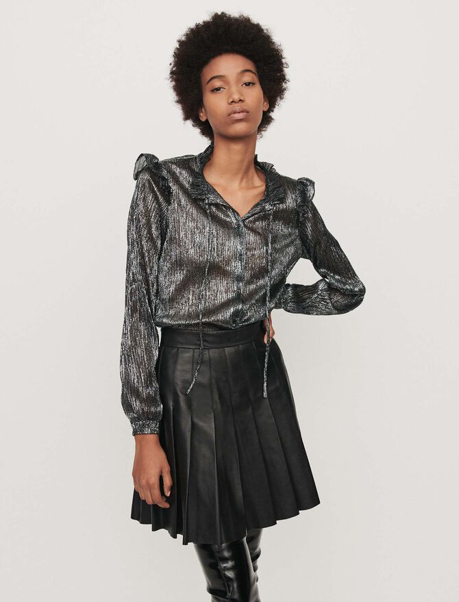 Lurex ruffled shirt - -30% - MAJE