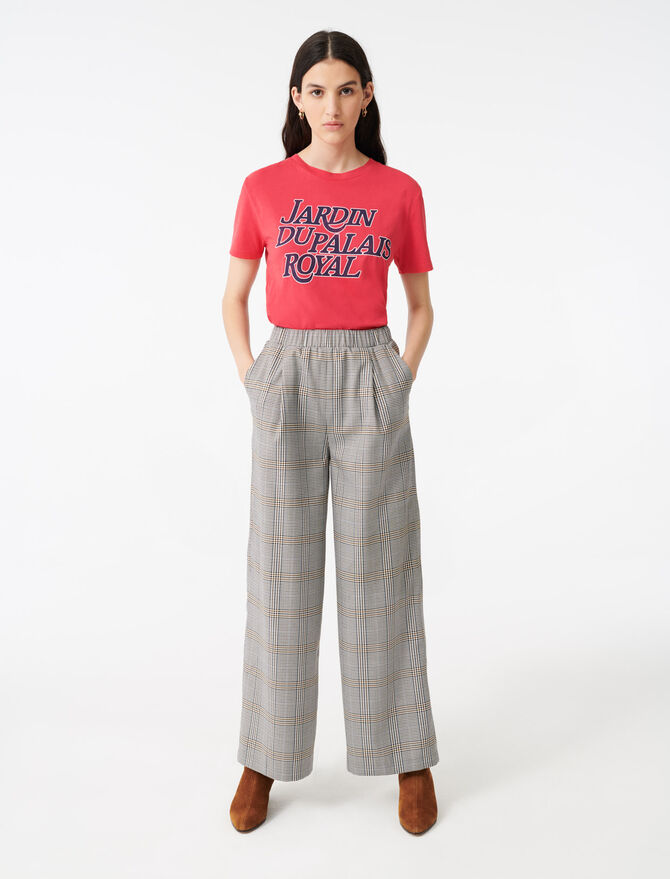 Checked elasticated trousers - Trousers & Jeans - MAJE