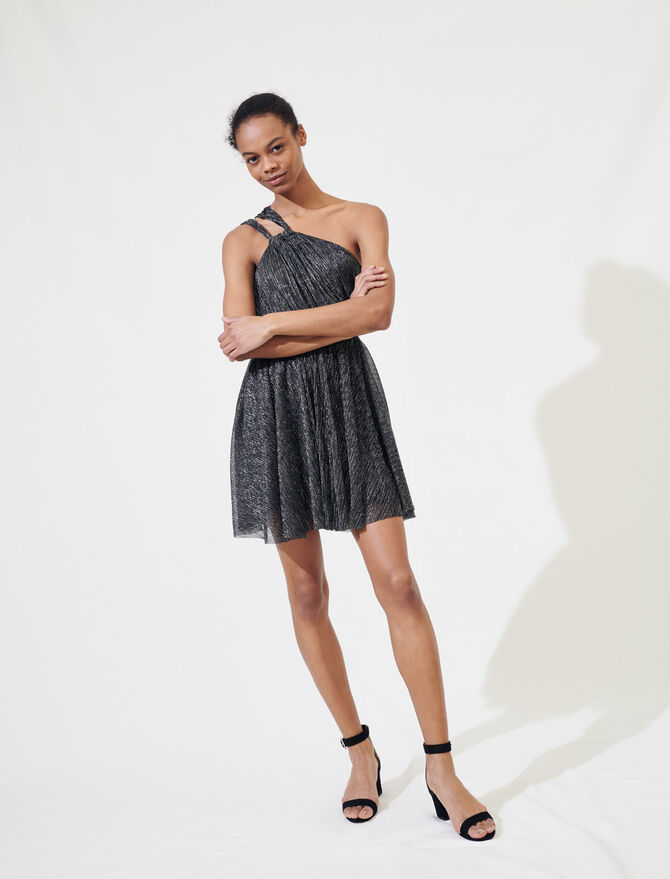 Sparkly dress with straps -  - MAJE
