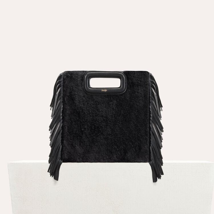 M bag in novelty fur : M bag color Black 210