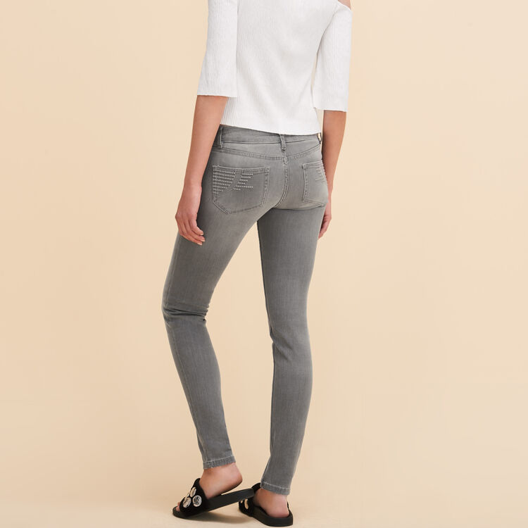 Skinny jeans : staff private sale color Grey
