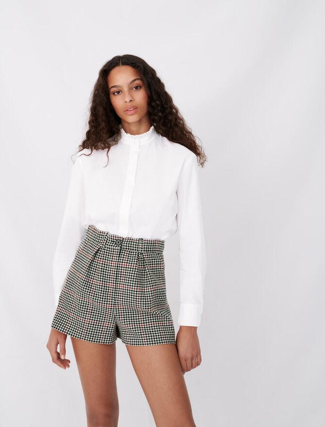 Poplin shirt with rhinestone collar - See all - MAJE