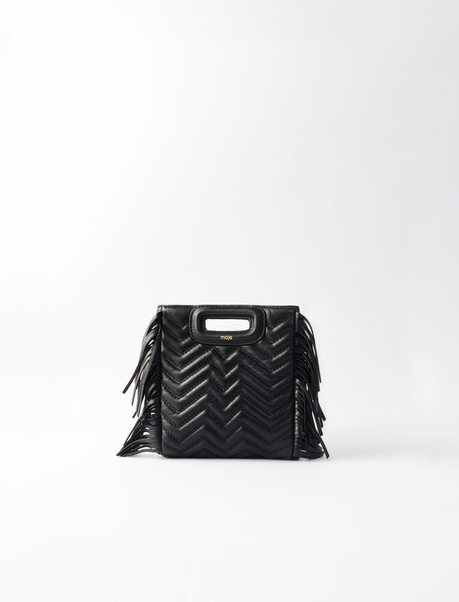 Quilted leather mini M bag - M Mini - MAJE