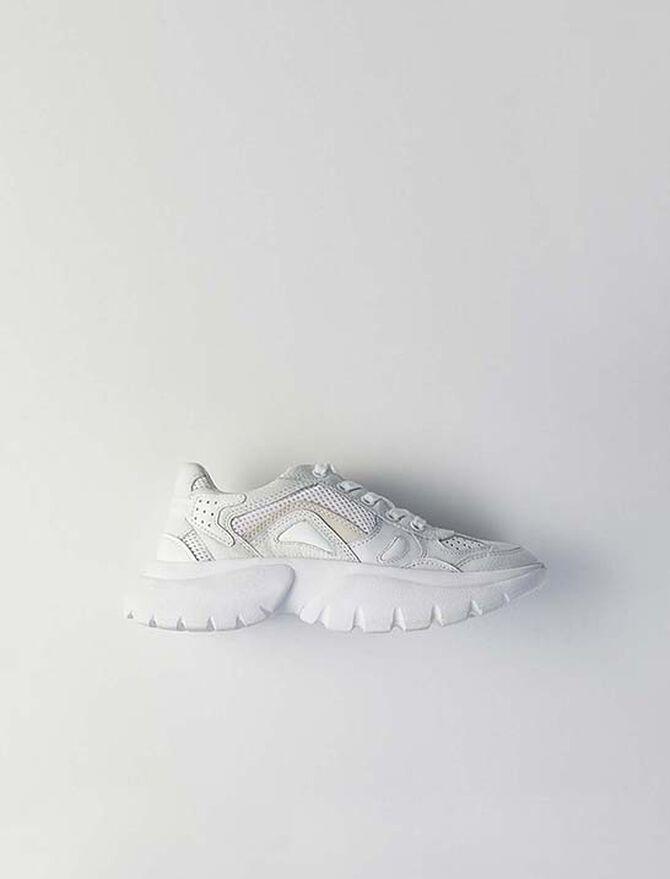 W20 Urban leather sneakers - Sneakers - MAJE