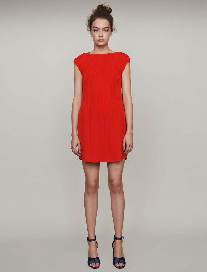 Sleeveless pleated dress - Best Sellers - MAJE