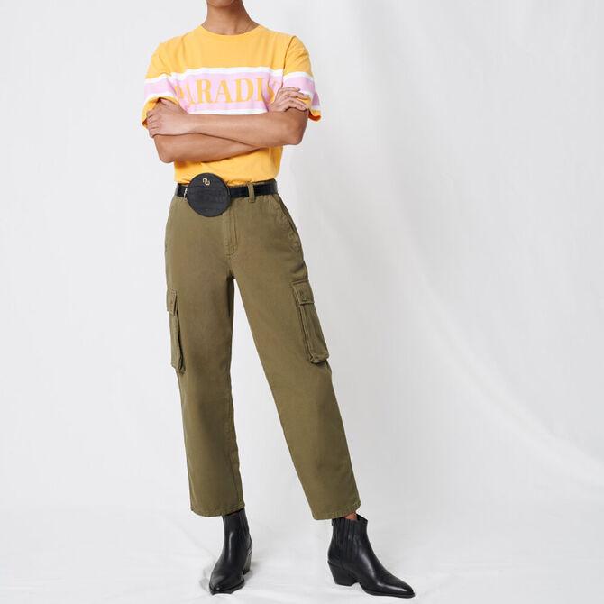 Cargo-style denim trousers - staff private sale 1220 - MAJE