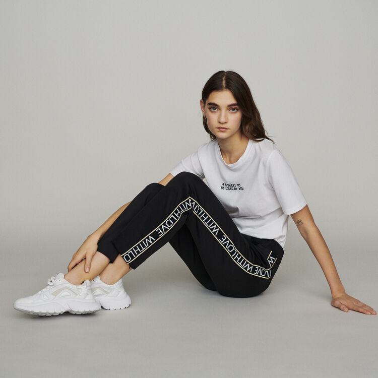 Jogging pants with elastic waist : New in : Summer Collection color Black 210