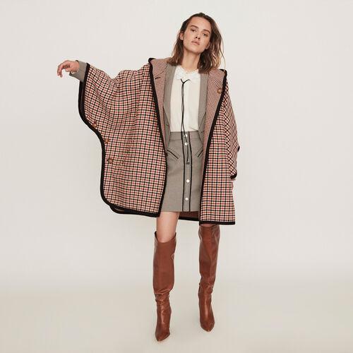 Reversible poncho coat : Campaign FW19 color CARREAUX