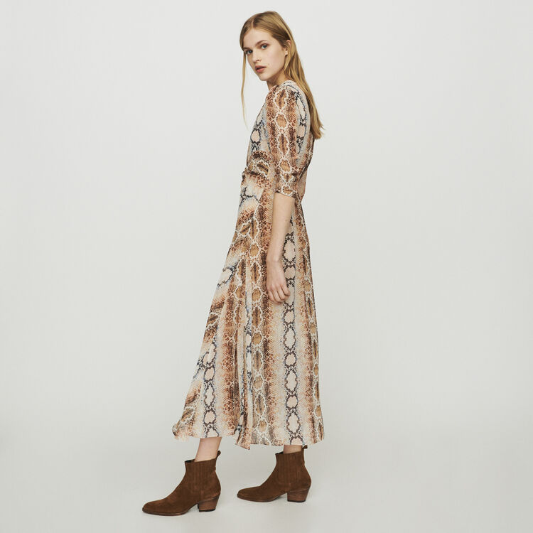 Long dress with python print : Dresses color Print