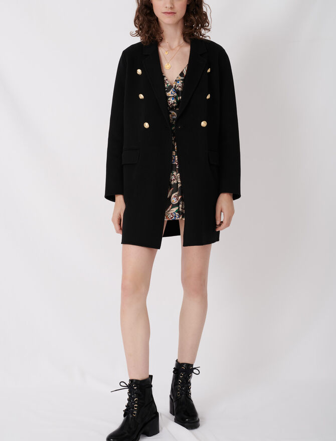 Belted coat in recycled wool - New collection - MAJE