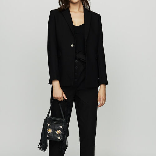 Suit jacket with pressed detailing : Blazers color Black 210