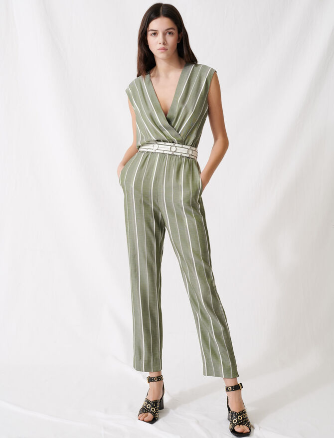 Striped jumpsuit - Jumpshort & Jumpsuits - MAJE