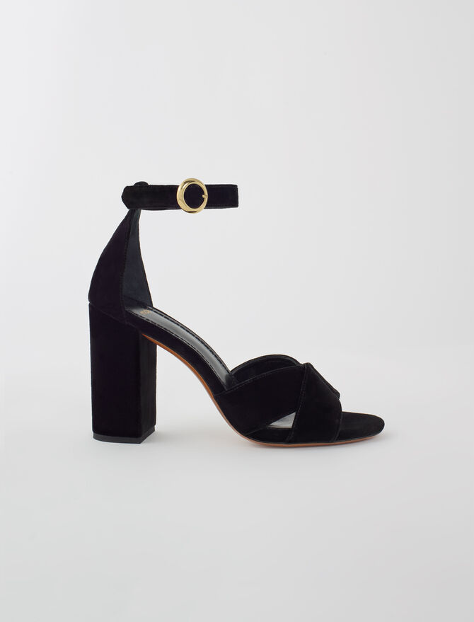 Suede heeled sandals - All Shoes - MAJE