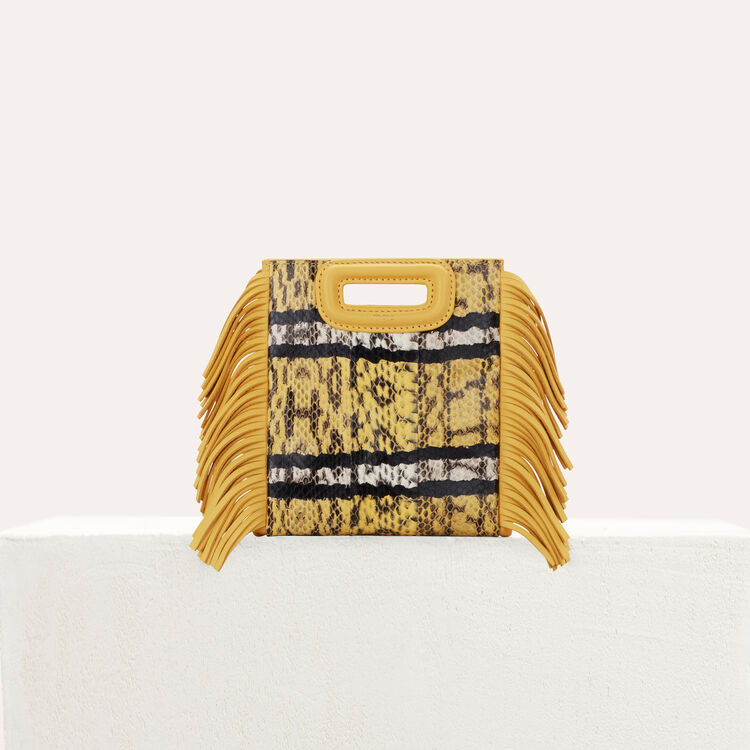 M Mini bag in water snake : New in : Summer Collection color Yellow