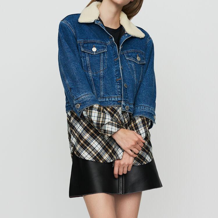 Denim trompe-l'oeil jacket : Jackets color Denim