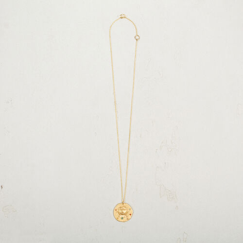 Cancer zodiac sign necklace : Collection color GOLD