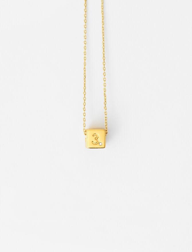 Number 3 dice necklace -  - MAJE