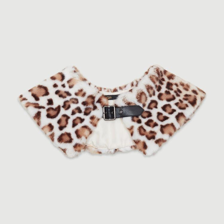 Wide faux fur collar scarf : Shawls & Ponchos color Multico