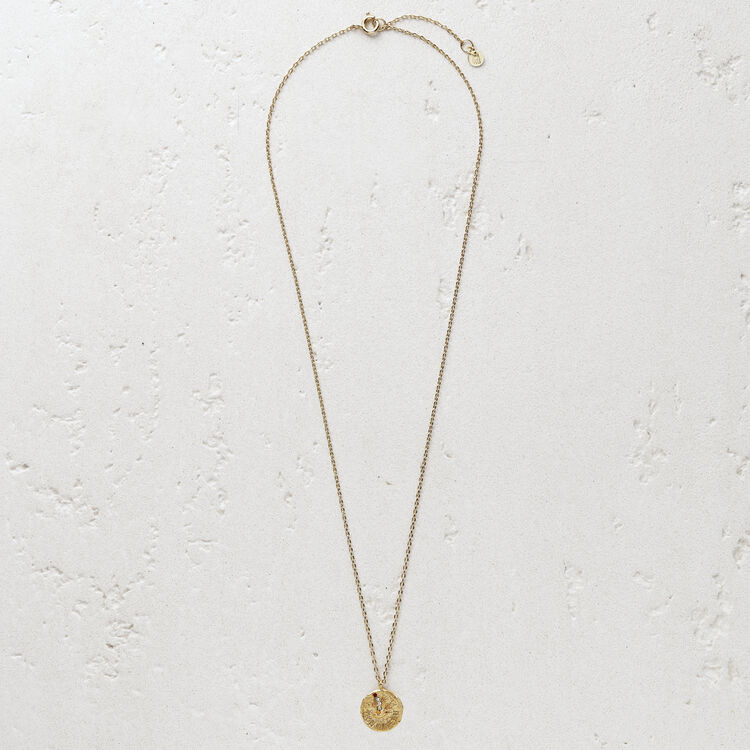 "Necklace ""Mon oiseau"" in gold plated : Jewelry color GOLD"