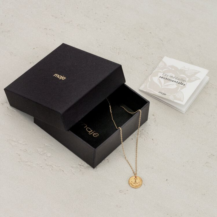 """Necklace """"Mon ancre"""" in gold plated : Jewelry color GOLD"""