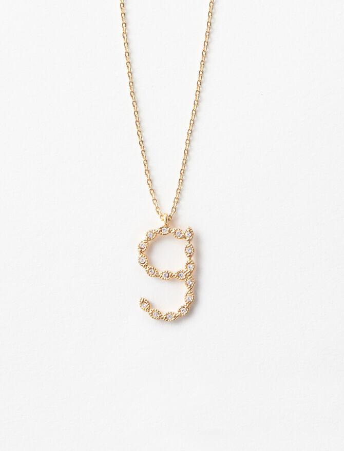 Rhinestone G necklace -  - MAJE