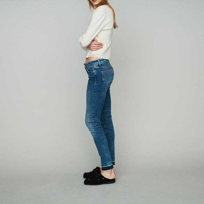 Slim jeans in stretch cotton - Trousers & Jeans - MAJE