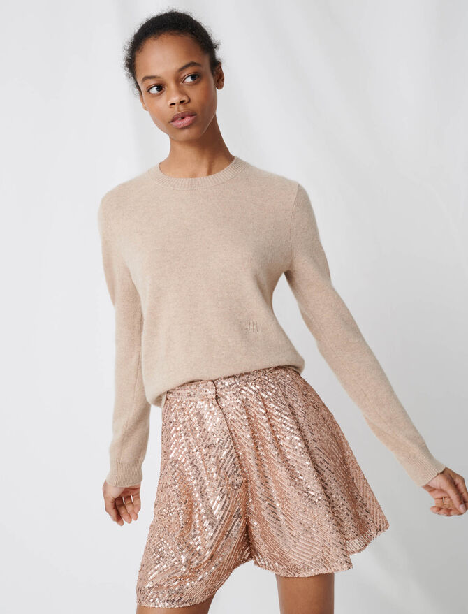 Cashmere jewel-neck sweater - Pullovers & Cardigans - MAJE