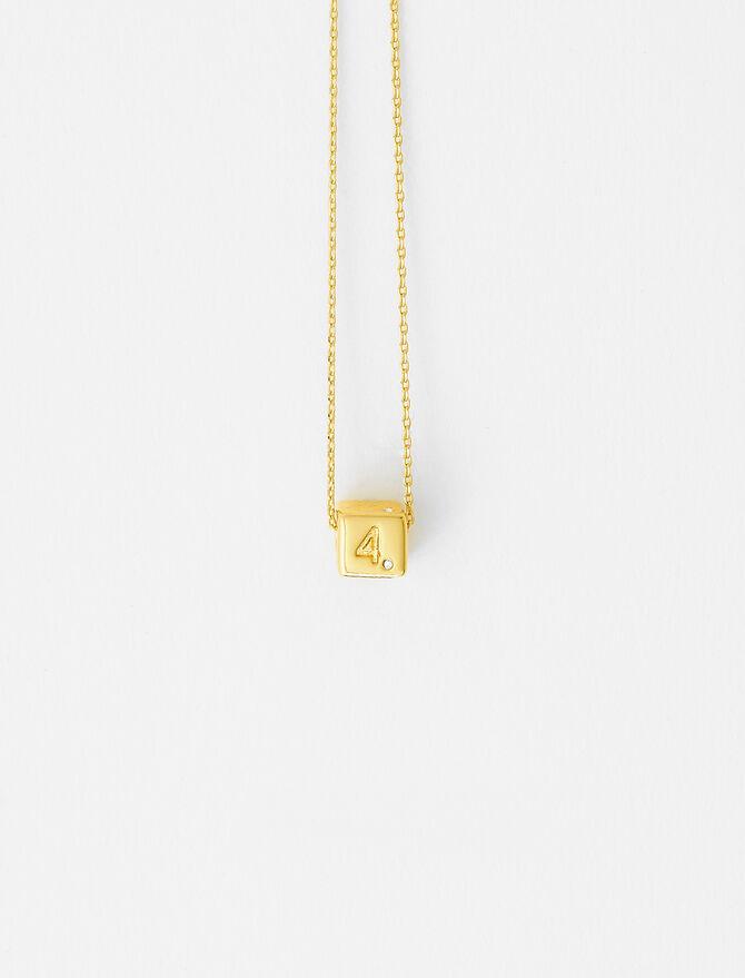 Number 4 dice necklace -  - MAJE
