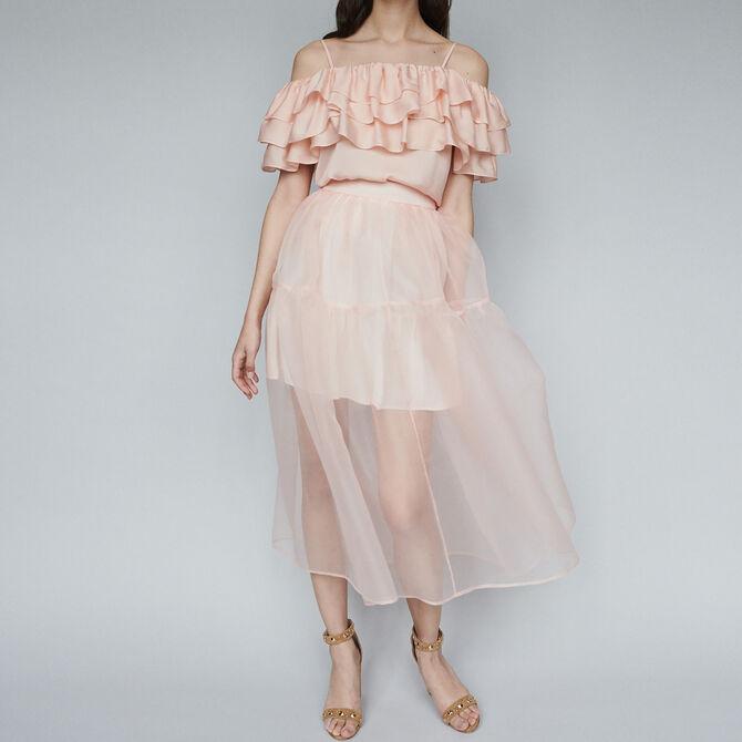 Long organza-style skirt - staff private sale - MAJE
