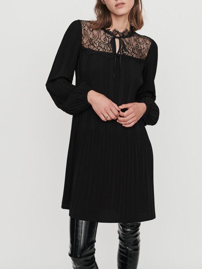 Pleated lace dress - Dresses - MAJE