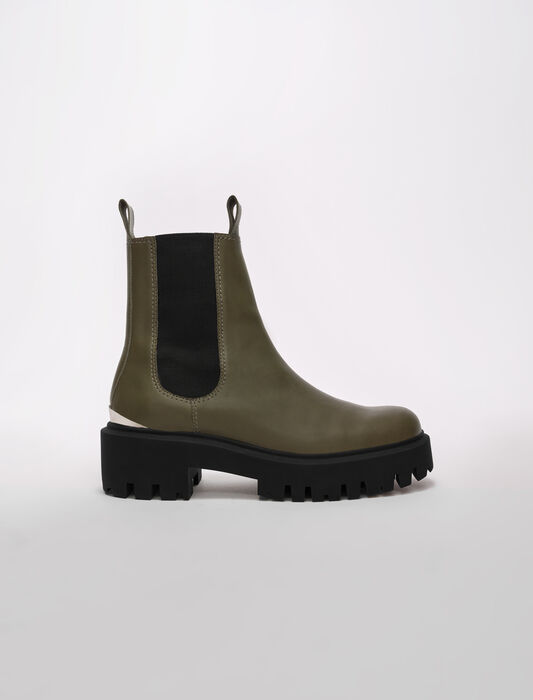 Chelsea boots with platform sole : Booties & Boots color Black