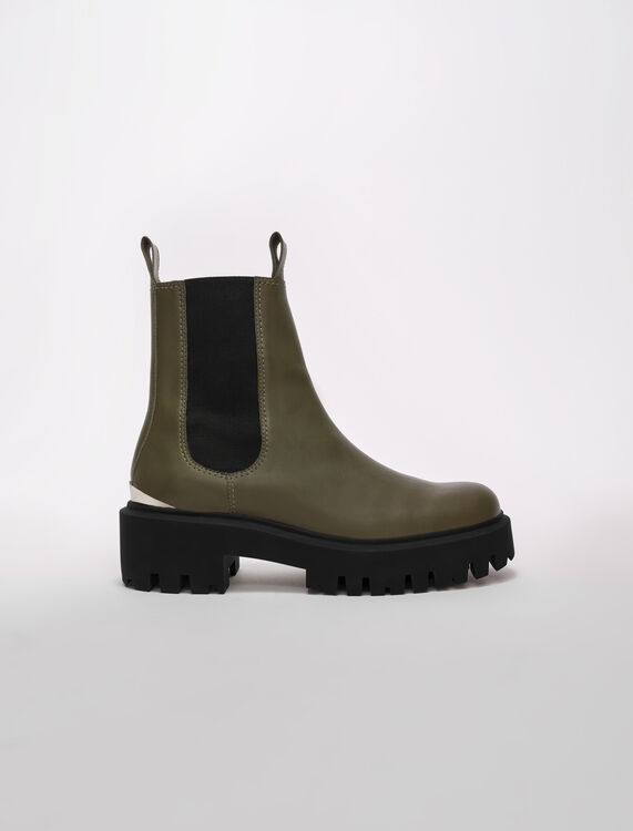 Chelsea boots with platform sole - Booties & Boots - MAJE