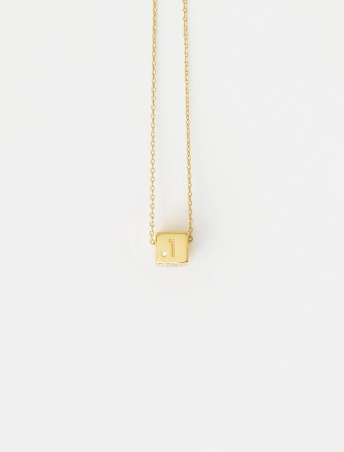 Number 1 dice necklace -  - MAJE