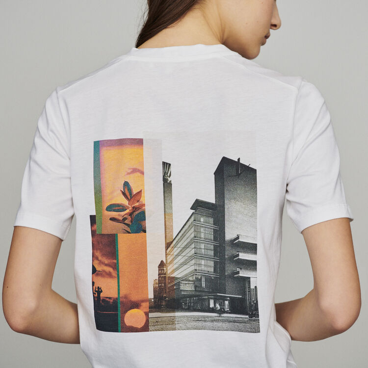 Tee-shirtwith slogan and print : New in : Summer Collection color White