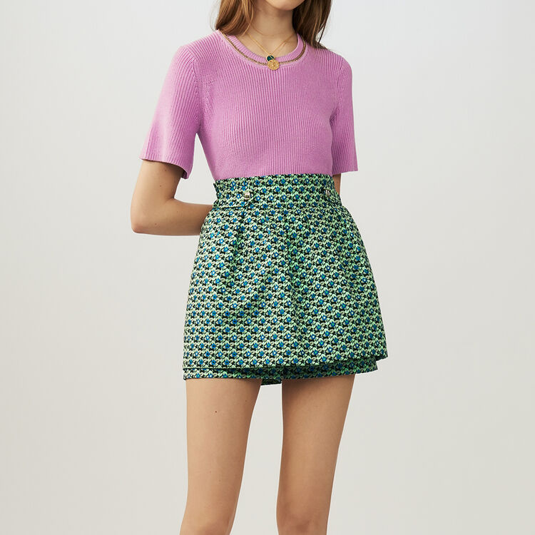 Jacquard cropped skirt : staff private sale color Jacquard
