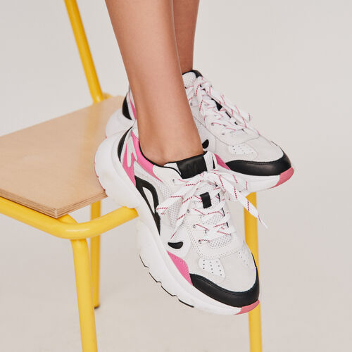 W20 leather city sneakers : Sneakers color Pink