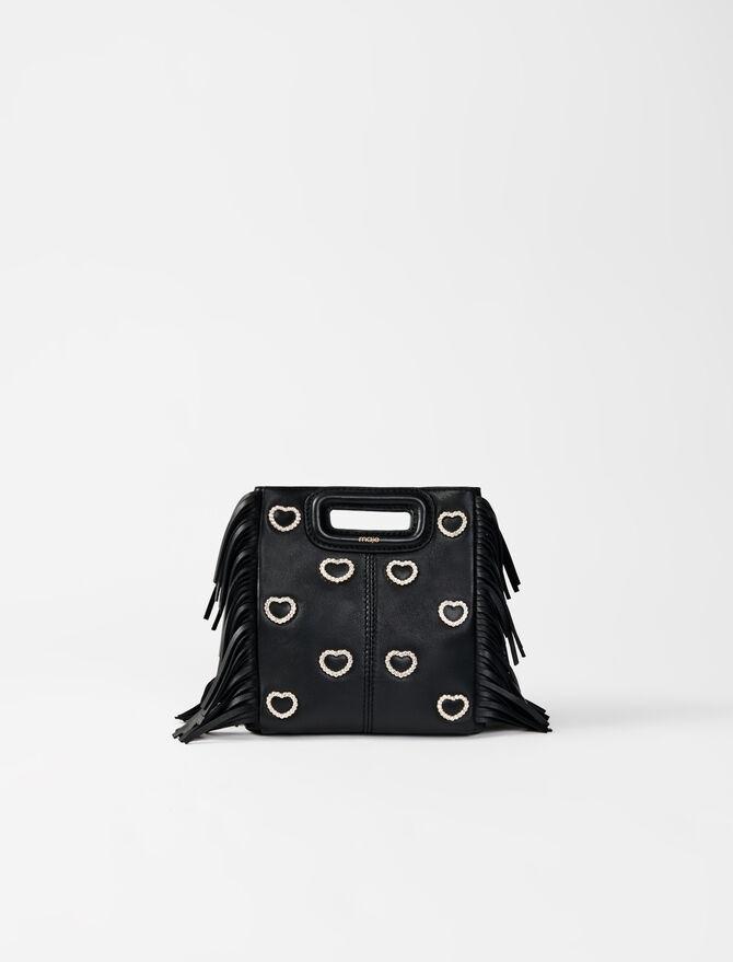 Leather mini M bag, diamanté - M bags - MAJE