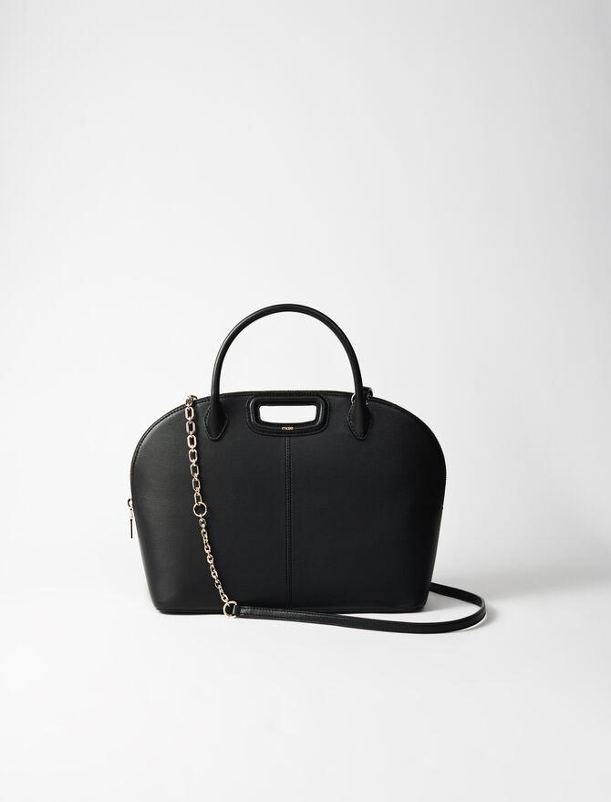 Large smooth leather handbag - Shoulder bags - MAJE