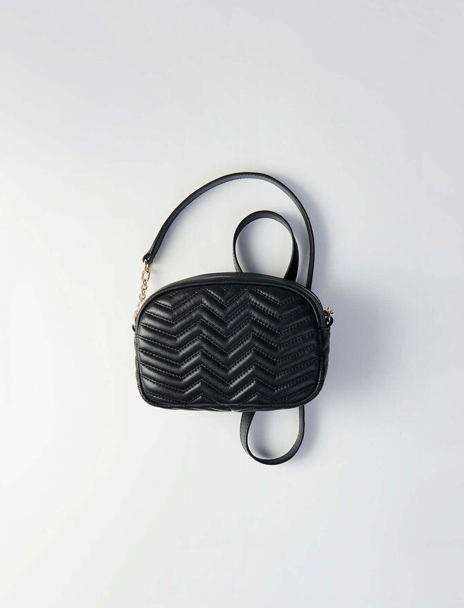 Quilted velvet shoulder bag -  - MAJE
