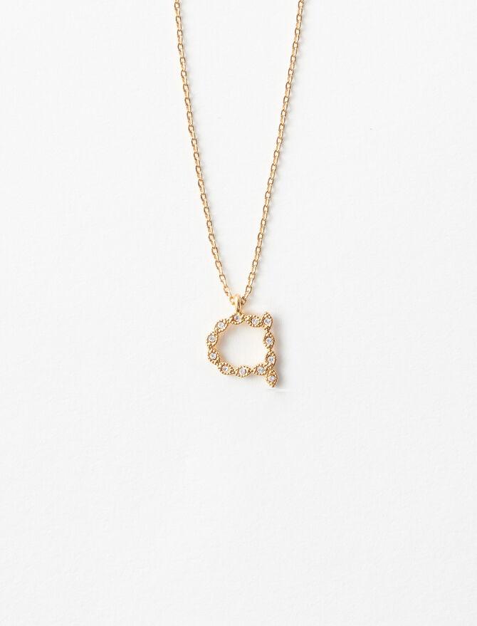Rhinestone A necklace -  - MAJE