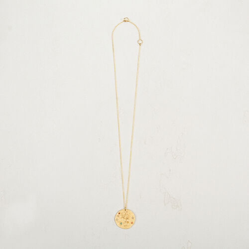 Virgo zodiac sign necklace : Collection color GOLD