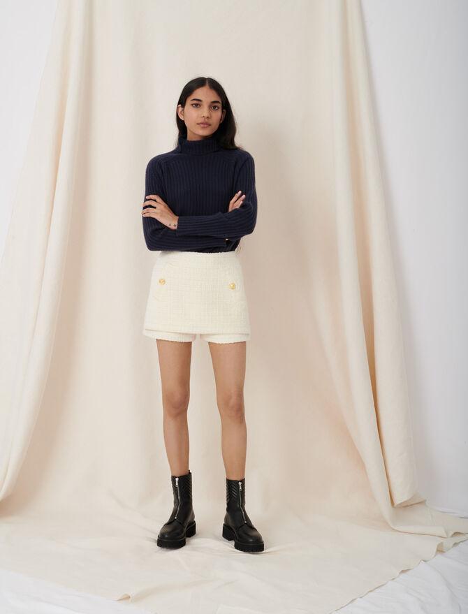 Tweed-style trompe-l'œil shorts -  - MAJE