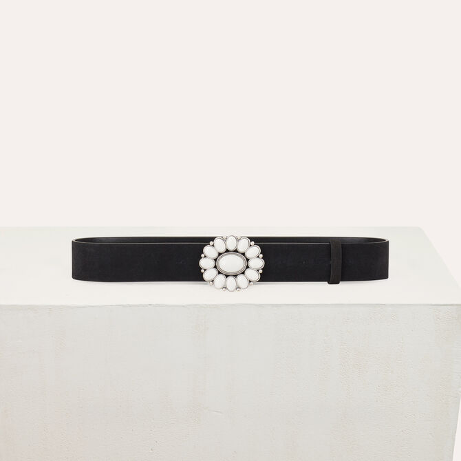 Trouser belt with flower buckle - See all - MAJE