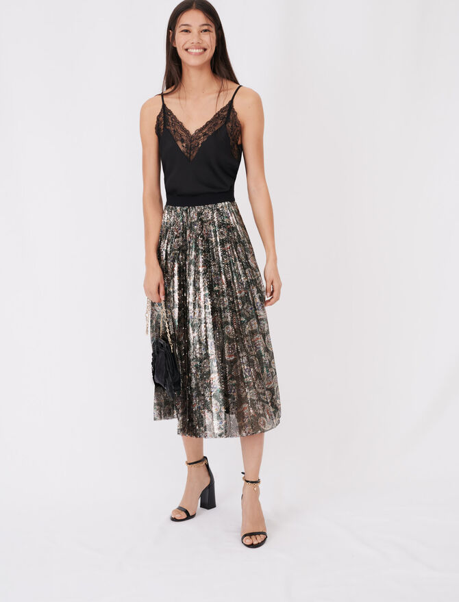 Sequin pleated skirt - See all - MAJE